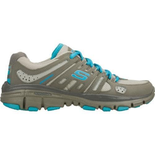 Women's Skechers Bravos Encore Gray/Blue - Thumbnail 1