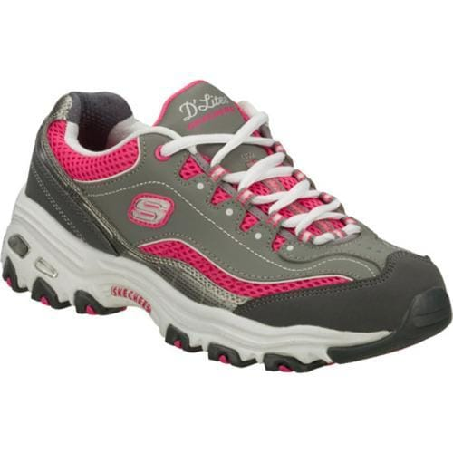 Women's Skechers D'Lites Double Diamond Gray/Pink