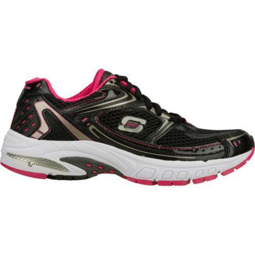 Women's Skechers Equilibrium Black/Pink - Thumbnail 1