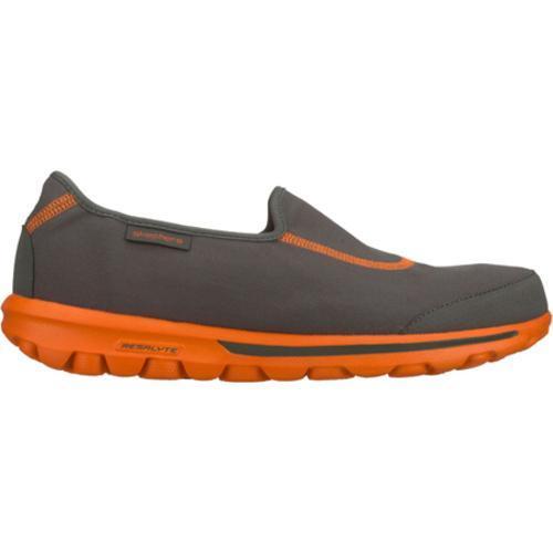 Men's Skechers GOwalk Gray/Orange - Thumbnail 1
