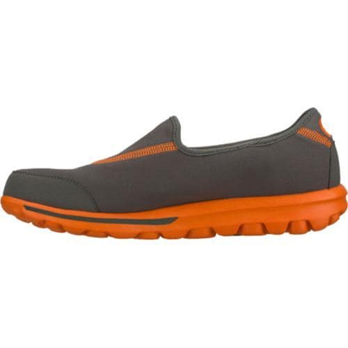 Men's Skechers GOwalk Gray/Orange - Thumbnail 2