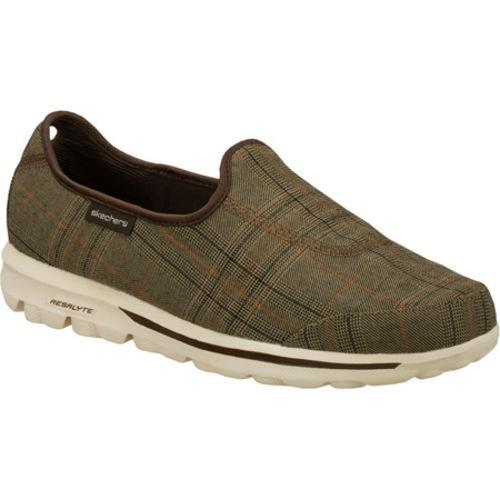 Men's Skechers GOwalk Plaid Brown