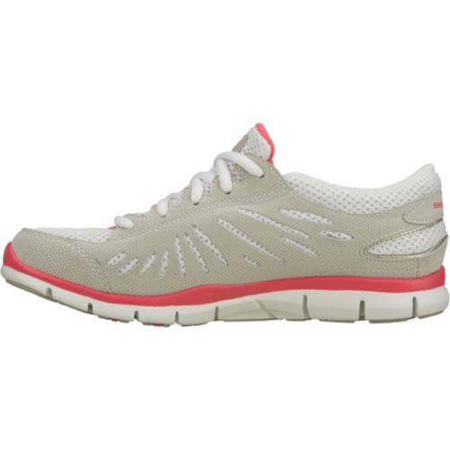 Women's Skechers Gratis Purestreet Light Gray/Pink - Thumbnail 2