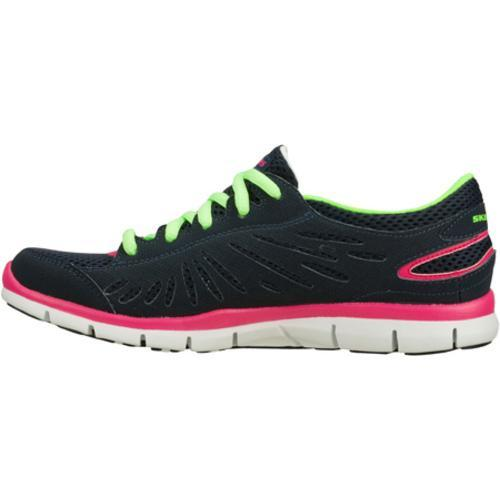 Women's Skechers Gratis Purestreet Navy/Multi - Thumbnail 2
