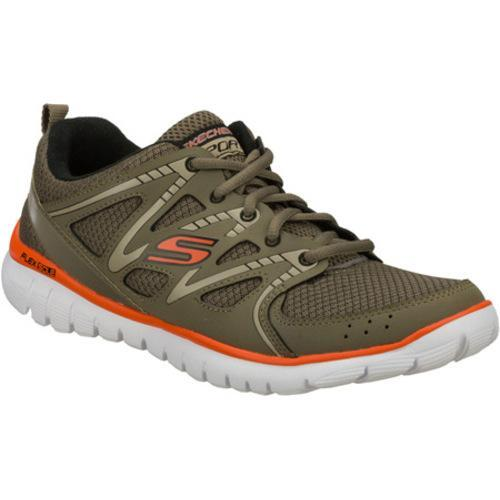 Men's Skechers Interceptor Olive/Orange
