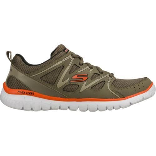 Men's Skechers Interceptor Olive/Orange - Thumbnail 1