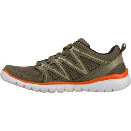 Men's Skechers Interceptor Olive/Orange - Thumbnail 2