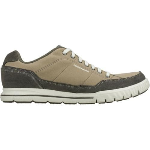 Men's Skechers Relaxed Fit Arcade II Amenity Natural/Gray - Thumbnail 1