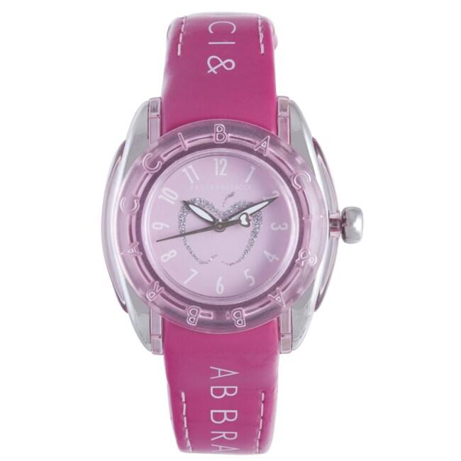 Baci Abbracci Women's Pink Patent Leather Watch