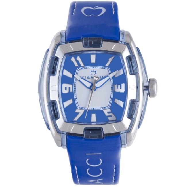 Baci Abbracci Women's Blue Patent Leather Watch