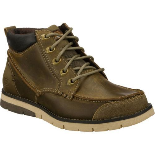 Men's Skechers Relaxed Fit Kane Maken Gray/Brown