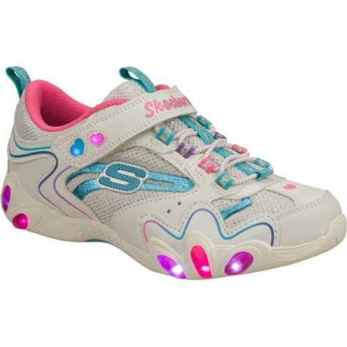 Girls' Skechers S Lights Fireflies White/Blue