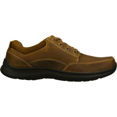 Men's Skechers Relaxed Fit Botein Verman Brown - Thumbnail 1