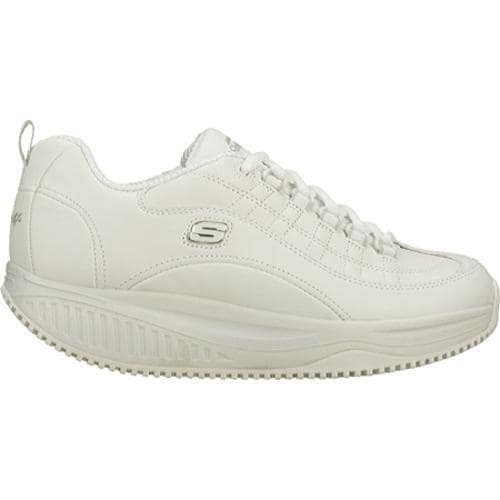 Women's Skechers Shape Ups X Wear Slip Resistant Register White - Thumbnail 1