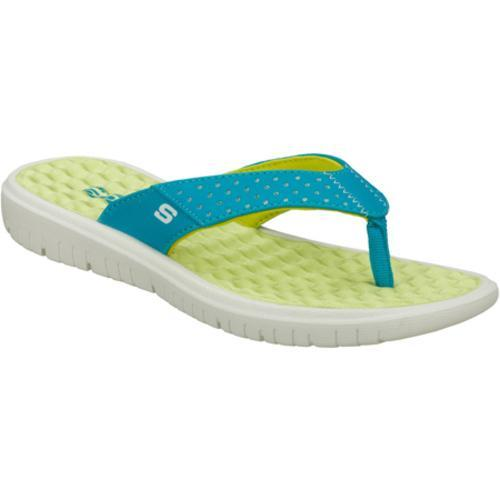 Women's Skechers Wave Rider Blue/Green