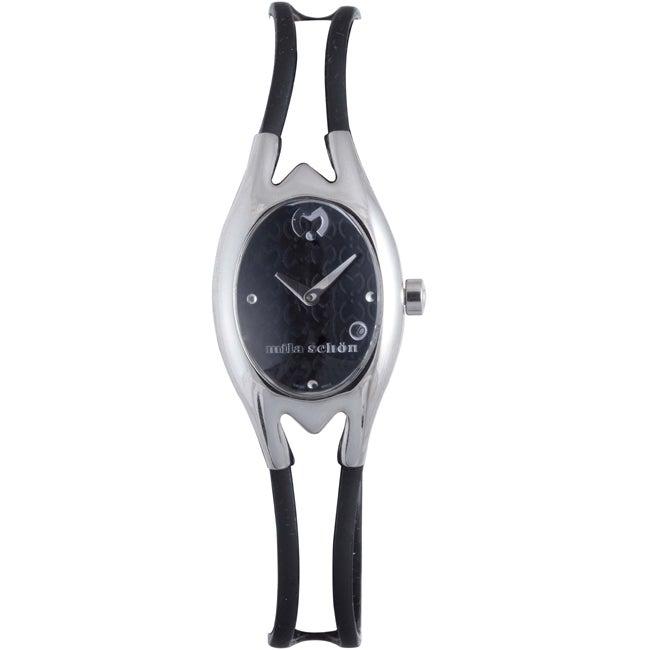 Mila Schon Children's Black Dial Leather Date Quartz Watch
