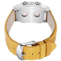 Philip Stein Women's 'Signature' Yellow Leather Strap Quartz Watch