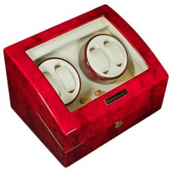 Steinhausen 5-mode Quad Cherry Lacquer Coated Wood Watch Winder