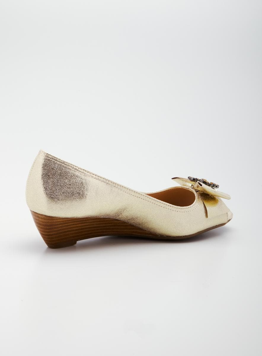 Etienne Aigner Ulivia Wedge Open Toe Pump - Thumbnail 1