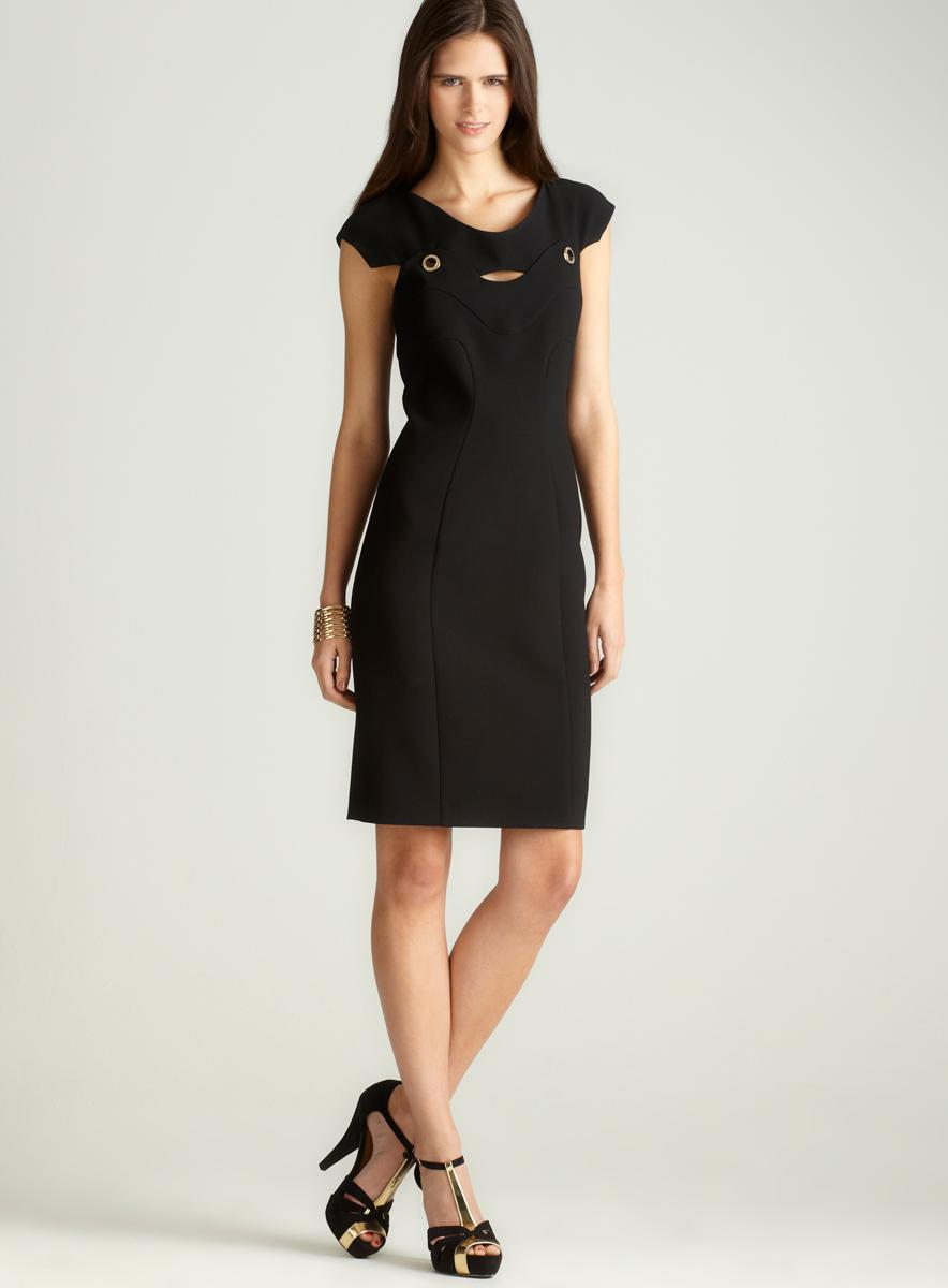 Versace Cap Sleeve Dress