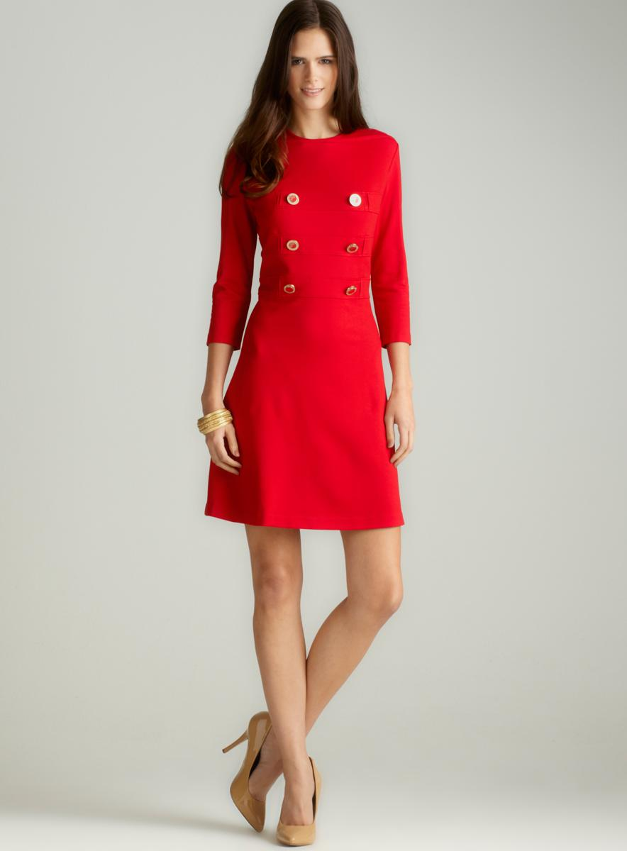 Versace Dress With Button Detail