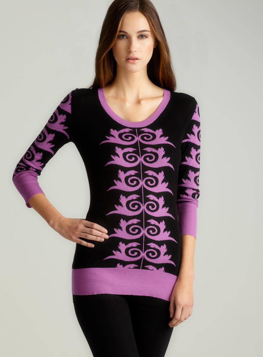 Versace Printed Long Sleeve Top