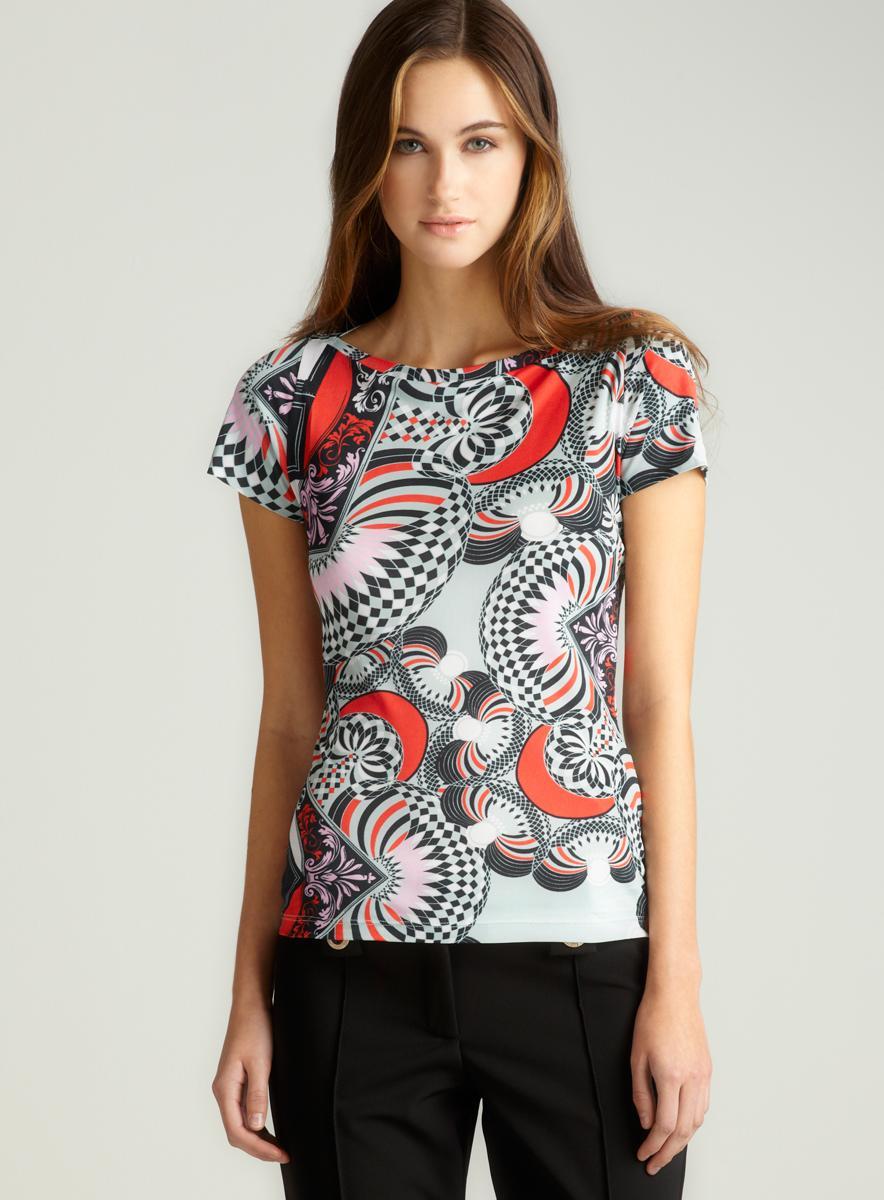 Versace Short Sleeve Geo Print Tee