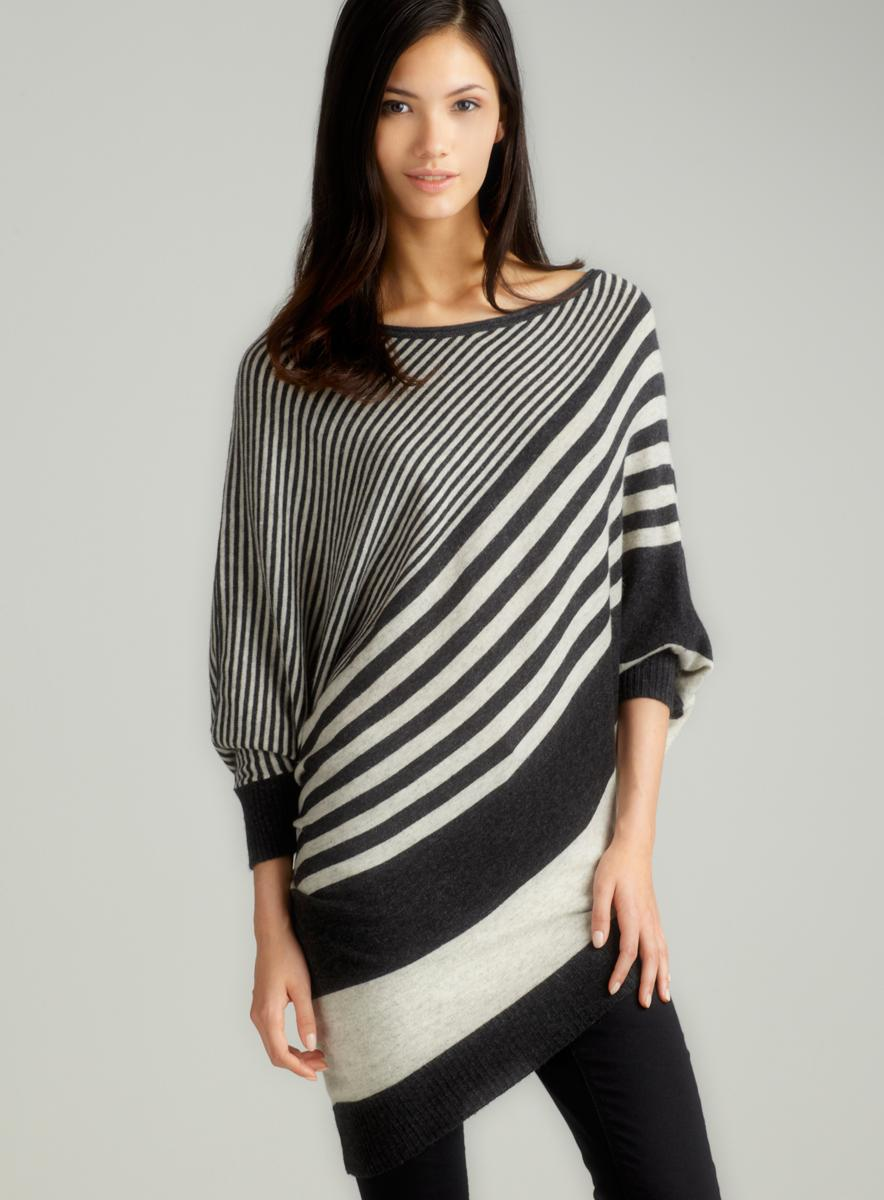 Vertigo Dolman Engineer Stripe Sweater