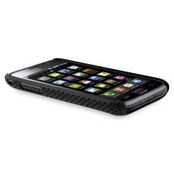 Black Mesh Case/ Screen Protector Set for Samsung Galaxy S GT-i9000 - Thumbnail 2
