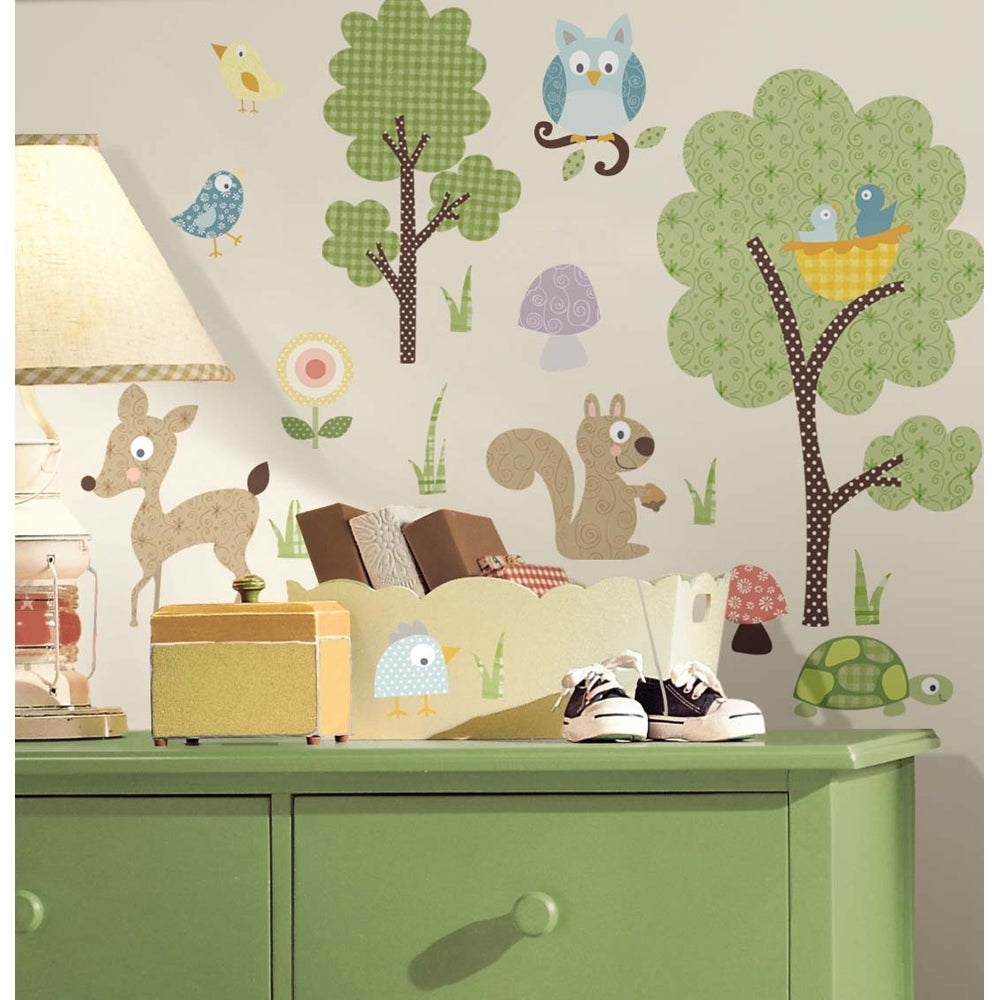 RoomMates Woodland Animals Peel and Stick Wall Decals