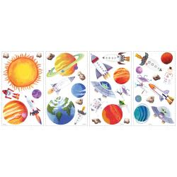 RoomMates Outer Space Peel-and-stick Vinyl Wall Decals (Set of 35) - Thumbnail 1