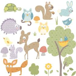 RoomMates Woodland Animals Peel and Stick Wall Decals - Thumbnail 2