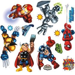 RoomMates Marvel Super Hero Squad Peel and Stick Wall Decals - Thumbnail 2