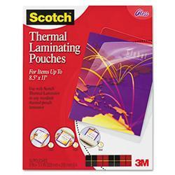 3M Letter size thermal laminating pouches, 3
