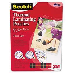 3M Photo size thermal laminating pouches, 5 mil,