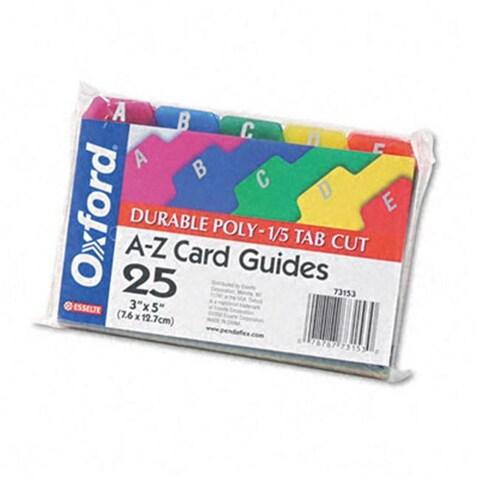 Oxford Card Guides- Alpha- 1/5 Tab-
