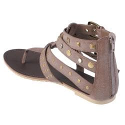 Journee Collection Women's 'Slick-37' T-strap Gladiator Sandals - Thumbnail 1