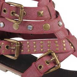Journee Collection Women's 'Slick-37' T-strap Gladiator Sandals - Thumbnail 2