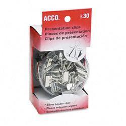 Acco Presentation Clips Steel/Nickel Asst. Sz