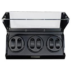Steinhausen 4-mode Black Lacquer Coated Wood Six Watch Winder - Thumbnail 1