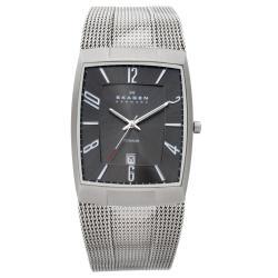Skagen Men's Titanium Black Dial Watch
