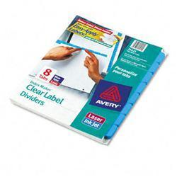 Avery Index Maker Dividers with Color Tabs Blue