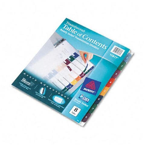 Avery Ready Index Table/Contents Dividers