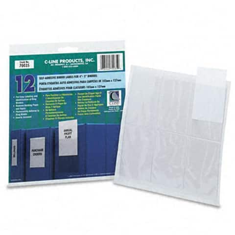 C-Line Self-Adhesive Ring Binder Labels for 4 to
