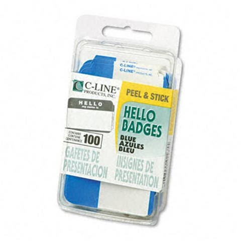 C-Line Self-Adhesive Name Badges Hello 2 x 3 1/2