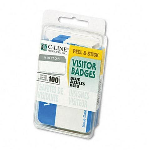 C-Line Self-Adhesive Name Badges Visitor 2 x 3
