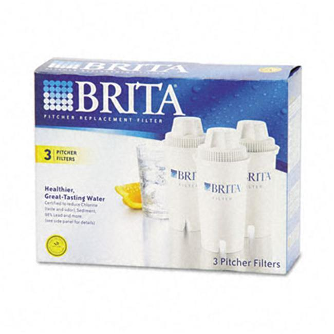 BRITA Pitcher Replacement Filters (3-pack), Brown copper