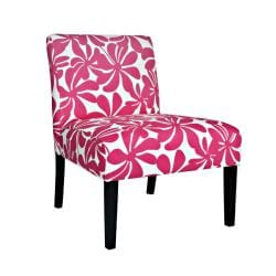 Portfolio Niles Pink Floral Armless Chair