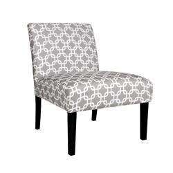 Portfolio Niles Gray Geometric Links Armless Chair