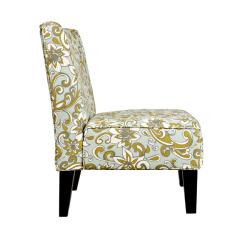 Portfolio Hali Lily Floral Blue Armless Chair